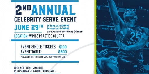2nd Annual Celebrity Serve Dallas Wings Benefiting the Coalition for Aging LGBT