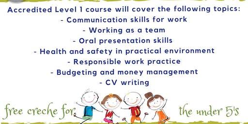 Level 1 Employability course - Purley Oaks Childrens Centre, Croydon Parents
