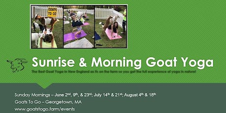 Sunrise Goat Yoga & Continental Breakfast  tickets