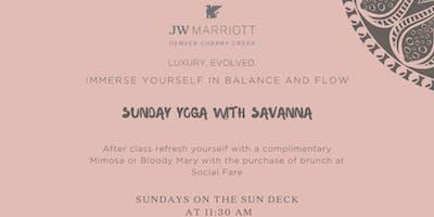 JW Marriott Yoga Class