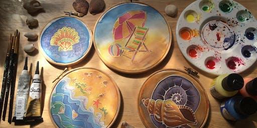 Intro to silk painting - Seaside fun