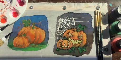 Intro to silk painting - Halloween tickets