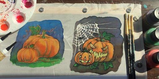 Intro to silk painting - Halloween