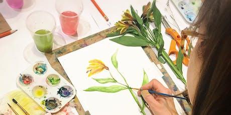 Painting Flowers Watercolor Workshop tickets