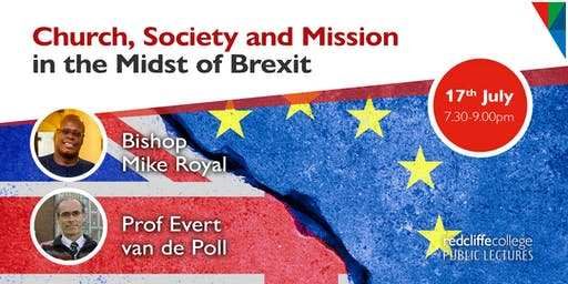Public Lecture: Church, Society and Mission in the Midst of Brexit