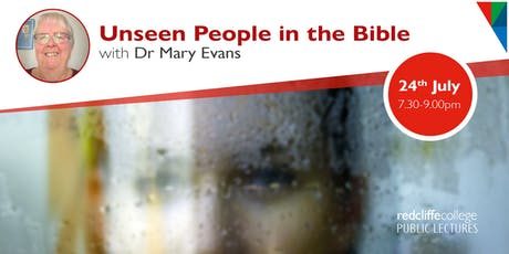 Public Lecture: Unseen People in the Bible tickets