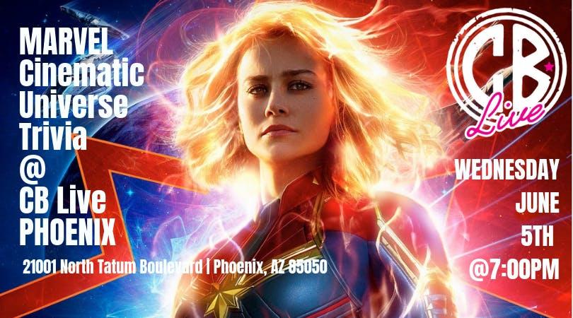 Marvel Cinematic Universe Trivia at CB Live Phoenix