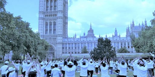 Free Yoga Workshop @ International Yoga Day in London - Victoria Tower Gardens