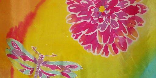 Paint a silk scarf with Jess Kemp