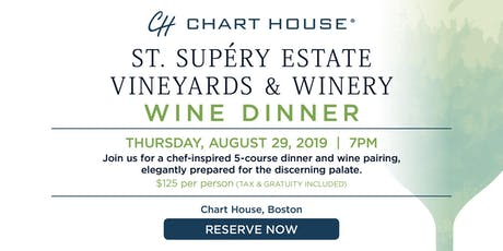 Chart House St. Supéry Estate Wine Dinner- Boston, MA tickets