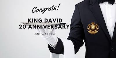 King David Restaurant  to celebrate 20th anniversary