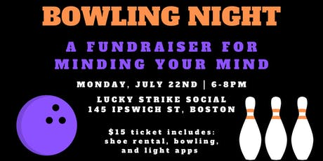 Bowling Fundraiser for Minding Your Mind tickets