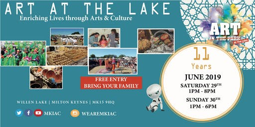 ART AT THE LAKE Festival - Willen Lake, MK - (Sat, 29 - Sun, 30 June 2019)