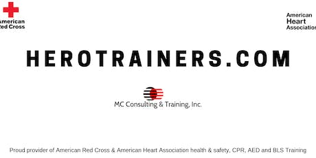 Red Cross CPR / BLS (1/2 online) tickets