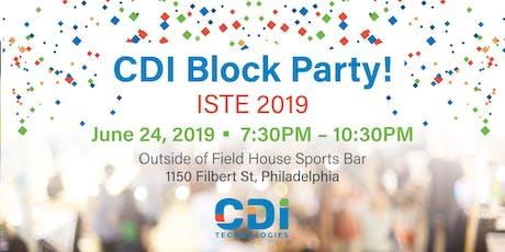 CDI Block Party tickets