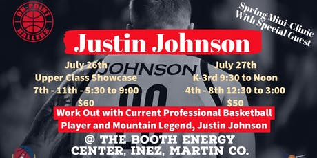 Justin Johnson Basketball Clinic tickets