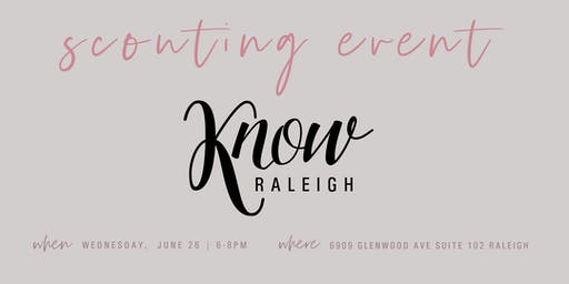 KNOW Raleigh: Scouting Event