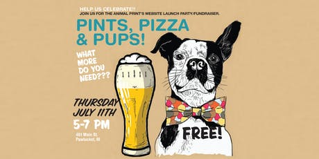 Pints, Pizza & Pups! - a website launch party! FREE tickets