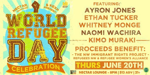 WORLD REFUGEE DAY CELEBRATION Feat Ayron Jones, Ethan Tucker, Whitney Monge, Naomi Wachira, Kimo Muraki