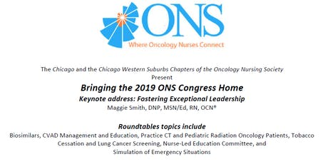 CCONS and CWSCONS: Present Bringing the 2019 ONS Congress Home tickets