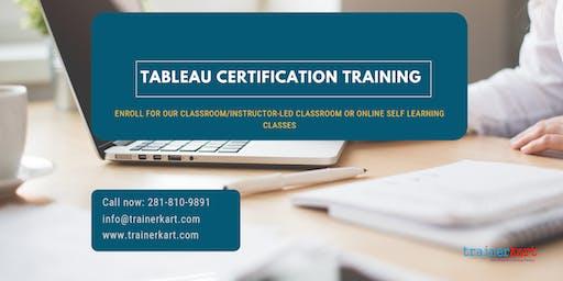 Tableau Certification Training in Bloomington, IN