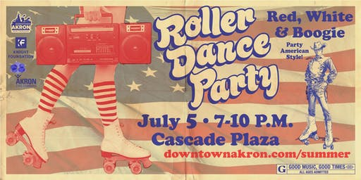 Roller Dance Party - Red, White and Boogie