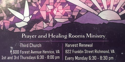 Receive Individual Prayer Richmond West End Prayer Room 3rd Thurs each Month