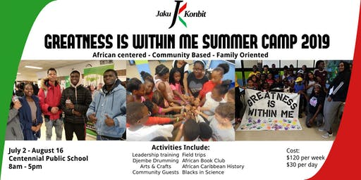 Greatness is Within Me Summer Camp