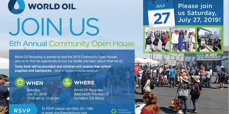 World Oil Recycling 6th Annual Open House tickets