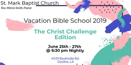 St. Mark B.C. Vacation Bible School tickets
