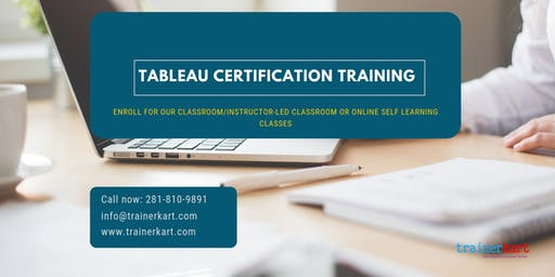 Tableau Certification Training in Evansville, IN