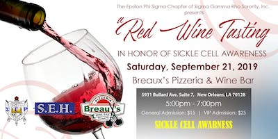 SGRHO Epsilon Phi Sigma Chapter Sickle Cell Awareness Wine Tasting