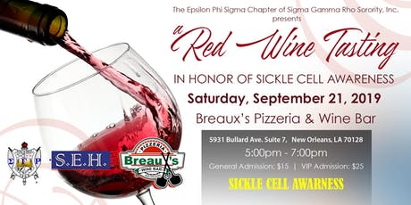 SGRHO Epsilon Phi Sigma Chapter Sickle Cell Awareness Wine Tasting  tickets
