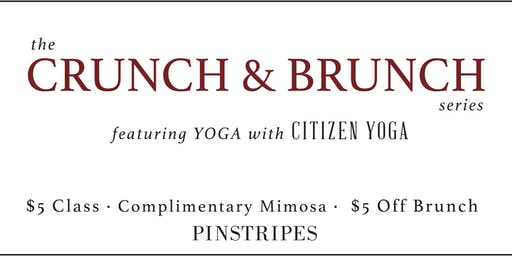 Yoga & Brunch at Pinstripes Orange Village