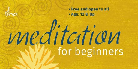 Meditation for Beginners - Isha Kriya Yoga tickets