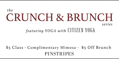 Yoga & Brunch at Pinstripes Orange Village tickets