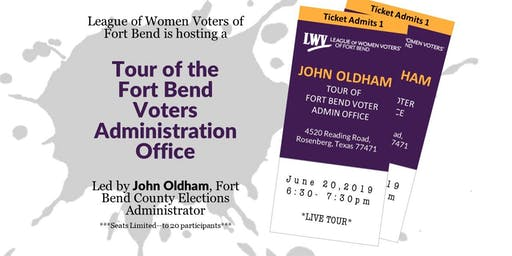 Tour of Fort Bend Voter Administration Office