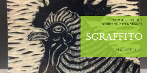 Sgraffito Plates & Tiles Pottery Workshop | Decorate Clay