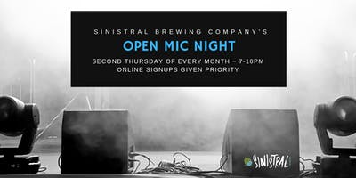 Open Mic Night at Sinistral Brewing Co.
