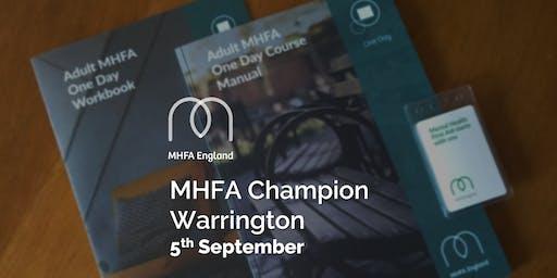 Mental Health Champion - Warrington - Adult One Day