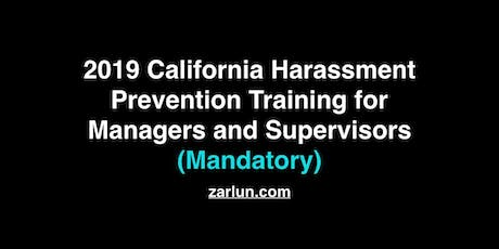 2019 California Harassment Prevention for Managers and Supervisors Irvine tickets