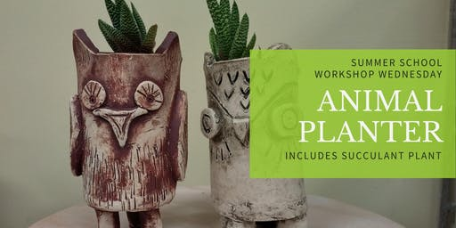 Succulent Animal Planter Pottery Workshop