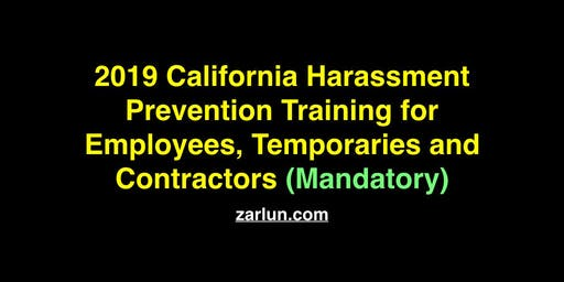 2019 California Harassment Prevention for Employees Irvine