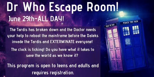 Dr. Who Themed Escape Room