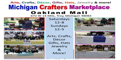 Crafters Studios & Marketplace at Oakland Mall, Troy:   crafters Wanted tickets