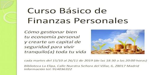 CURSO TALLER BÁSICO GRATUITO DE FINANZAS PERSONALES - Cómo gestionar bien tu economía personal y crearte un capital para vivir tranquilo toda tu vida