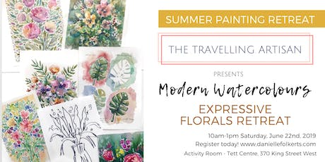 Modern Watercolours: Expressive Florals Retreat  tickets