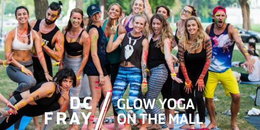 Glow Yoga on the Mall