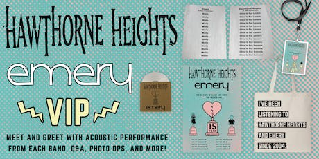Hawthorne Heights and Emery @ Fresno VIP Upgrade tickets