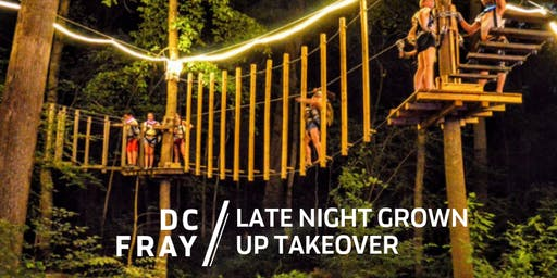 Late Night Grown Up Takeover at Sandy Spring Adventure Park